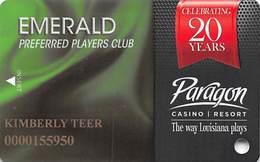 Paragon Casino - Marksville LA - Emerald Slot Card - Casino Cards