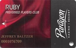 Paragon Casino - Marksville LA - Ruby Slot Card - Casino Cards