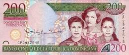 DOMINICAN REPUBLIC 200 PESOS DOMINICANOS 2012 P-185a UNC RARE! [DO714a] - Dominicana