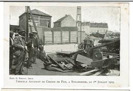Terrible Accident De Chemin De Fer à Schaerbeek 1er Juillet 1903 - Edit. G. Freddy, Bruxelles - 2 Scans - Schaerbeek - Schaarbeek