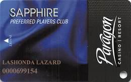 Paragon Casino - Marksville LA - Sapphire Slot Card - Casino Cards