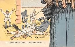 Thème Puzzle Ou élément  Militaria   1 Carte  Fantaisie Sur La Vie A La Caserne   (voir Scan) - Autres