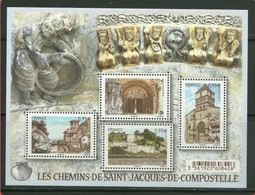 2015 Yt F 4949 N** Les Chemins De Saint-Jacques-de-Compostelle - 4e Et Dernière Série - Blocs & Feuillets