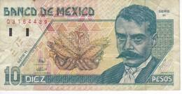 BILLETE DE MEXICO DE 10 PESOS DEL AÑO 1994 DE EMILIANO ZAPATA  (BANKNOTE) - México