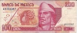 BILLETE DE MEXICO DE 100 PESOS DEL AÑO 1994  (BANKNOTE) - México