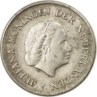 Monnaie, Pays-Bas, Juliana, 25 Cents, 1966, TB+, Nickel, KM:183 - [ 3] 1815-… : Kingdom Of The Netherlands