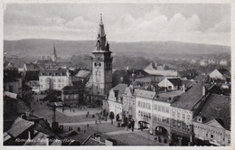 AK Komotau Chomutov - Adolf-Hitler-Platz - Feldpost Le. Flk. Ers. Abt. 93 - 1942 (36889) - Sudeten