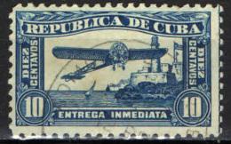CUBA - 1914 - AEREO CHE SORVOLA IL CASTELLO MORRO - USATO - Francobolli Per Espresso
