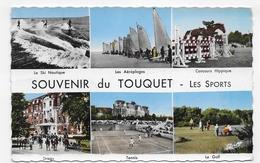 (RECTO / VERSO) LE TOUQUET PARIS PLAGE EN 1963 - N° 102 - LES SPORTS - GOLF - TENNIS ... - FORMAT CPA VOYAGEE - Le Touquet
