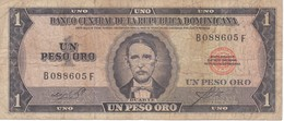 BILLETE DE LA REPUBLICA DOMINICANA DE 1 PESO ORO DEL AÑO 1975 DE DUARTE (BANKNOTE) RARO - Dominicaine