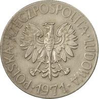 Monnaie, Pologne, 10 Zlotych, 1971, Warsaw, TTB, Copper-nickel, KM:50a - Polonia