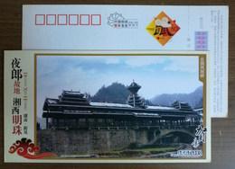 Xinhuang Rainhouse Bridge,China 2008 Xiangxi Landscape Advertising Pre-stamped Card - Bruggen