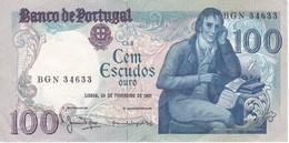 BILLETE DE PORTUGAL DE 100 ESCUDOS AÑO 1981 EN CALIDAD EBC (XF) (BANKNOTE) - Portugal