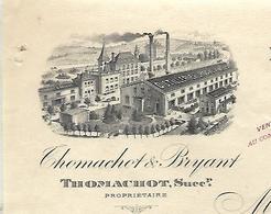 Facture Photo 1908 / 71 SAINT-SORLIN-LES-MACON / Distillerie De La Roche Vineuse / Thomachot & Bryant - 1900 – 1949