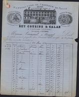 Manufacture Chapeaux De Paille Caussade Annexe Septfonds Facture Ornée 1874 Rey Cousins Et Galan Représentant Ets - France