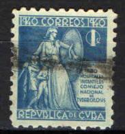 CUBA - 1940 - LA DEA SALUTE PROTEGGE I BAMBINI - USATO - Segnatasse