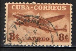 CUBA - 1953 - AEREO IN VOLO - USATO - Posta Aerea