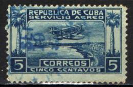 CUBA - 1927 - AEREO IN VOLO SUL PORTO DELL'AVANA - USATO - Posta Aerea