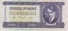BILLETE DE HUNGRIA DE 500 FORINT DEL AÑO 1980  (BANKNOTE) - Hungría
