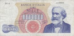 BILLETE DE ITALIA DE 1000 LIRAS DEL AÑO 1962 DE VERDI  (BANKNOTE) - [ 2] 1946-… : République