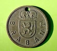 """Jeton De Taxe Sur Les Chiens """"Année 1940 - Province De Brabant"""" Médaille De Chien - Professionals / Firms"""