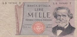 BILLETE DE ITALIA DE 1000 LIRAS DEL AÑO 1973 DE VERDI  (BANKNOTE) - [ 2] 1946-… : République