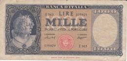BILLETE DE ITALIA DE 1000 LIRAS DEL 15 DE SEPTIEMBRE DE 1959  (BANKNOTE) - [ 2] 1946-… : República