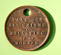 """Jeton De Taxe Sur Les Chiens """"Année 1926 - Belgique / Belgie"""" Médaille De Chien - Professionals / Firms"""