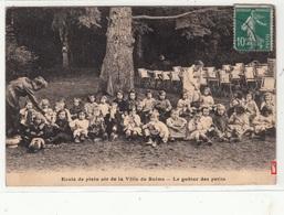 CPA- Ecole De Plein Air De La Ville De REIMS - Le Goûter Des Petits-1924 -dép51-2scans - Reims