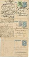 1921-22   3 X 2 Kronen Postkarten + Zusatzfrankatur Nach Villach Und Paternion - Entiers Postaux