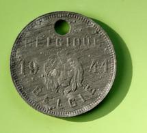 """Jeton De Taxe Sur Les Chiens """"Année 1941 - Belgique / Belgie"""" Médaille De Chien - Professionals / Firms"""