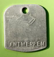 """Jeton De Taxe Sur Les Chiens """"Année 1977 - Anvers / Antwerpen"""" Médaille De Chien - Professionnels / De Société"""