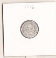 D-0014. Finland 25 PENNIÄ 1916 SILVER UNC - Finland