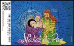 Ref. BR-3228 BRAZIL 2012 CHRISTMAS, RELIGION, HOLY FAMILY,, SOUVENIR SHEET MNH 2V Sc# 3228 - Unused Stamps