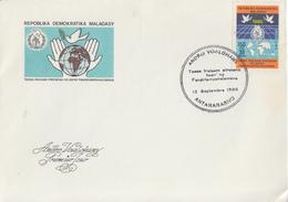 Enveloppe  FDC  1er  Jour   MADAGASCAR    Année  Internationale  De  La  Paix   1986 - Madagascar (1960-...)