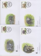 World Wide Fund For Nature 2009 Guinee- Hylochoerus,Set 4 Official First Day Covers - FDC