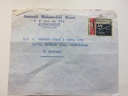 SOMALIA - Mogadiscio To Birmingham - Somalia (1960-...)