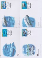 World Wide Fund For Nature 22009 Maldives -melon Headed Whale,Set 4 Official First Day Covers - FDC
