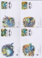 World Wide Fund For Nature 2009 Micronesia- Mandarin Fish ,Set 4 Official First Day Covers - FDC