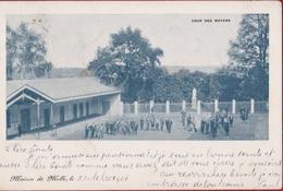 Melle Bij Gent Zeer Oude Postkaart 1901 Maison De Melle Cour Des Moyens - Melle