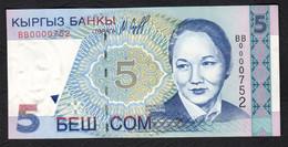 Kirghizistan (KYRGYZSTAN) : 5 Som - P13 - 1997- UNC - Kirghizistan
