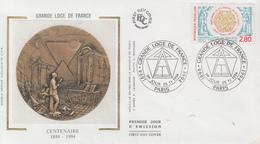 Enveloppe  FDC  1er  Jour   FRANCE   Centenaire   GRANDE  LOGE  DE   FRANCE   1994 - FDC