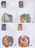 World Wide Fund For Nature  2010 Aiututaki- Grouper  ,Set 4 Official First Day Covers - FDC