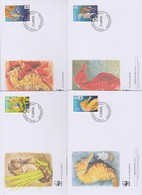 World Wide Fund For Nature  2010 Bermuda Seahorses  ,Set 4 Official First Day Covers - FDC