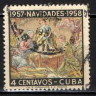 CUBA - 1957 - NATALE - LA NATIVITA' - USATO - Cuba