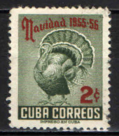 CUBA - 1955 - NATALE - TACCHINO - USATO - Cuba