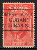 CUBA - 1947 - 2nd Anniv. Of The Death Of Franklin D. Roosevelt. - USATO - Cuba