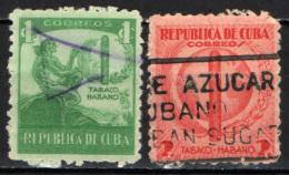 CUBA - 1939 - INDIANO D'AMERICA E SIGARO CUBANO - USATI - Cuba