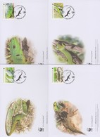World Wide Fund For Nature  2010 Bosnia Herzegonia- Balcanic Lizard ,Set 4 Official First Day Covers - FDC
