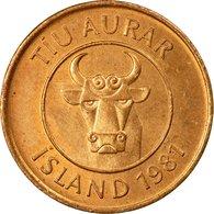 Monnaie, Iceland, 10 Aurar, 1981, TTB+, Bronze, KM:25 - Iceland